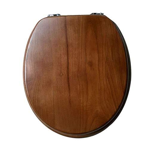 Djyyh 調節可能な蝶番が付いている便座の純木のトイレリッドクイックリリースの上の固定便座カバーV/U/Oの...