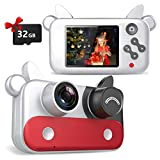 Wohome Digital Camera for Kids,1080P Kids Camera Digital Video Camera with 15 Photo Frames,9 Filters and 5 Games,Portable Toy Gifts for 3-12 Year Old Kids with 32GB SD Card