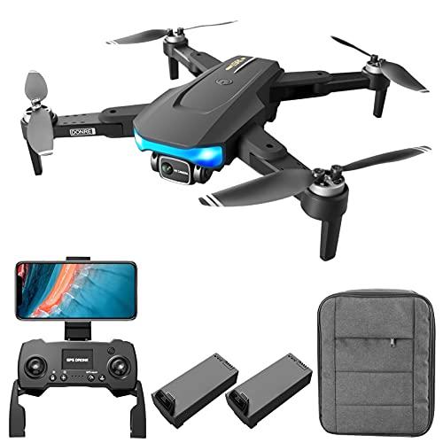 Montloxs LS-38 GPS RC Drone con Telecamera per Adulti RC Drone con Fotocamera 6K EIS Anti-Shake Gimbal Motore Senza spazzole 5G WiFi Video Antenna FPV Quadricottero Smart Follow Mode Pacchetto Zaino