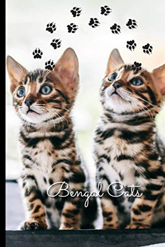"""Bengal Cats: Journal and Notebook - Composition Size (6""""x9"""") With 120 Lined Pages, Perfect for Journal, Doodling, Sketching and Notes"""