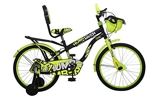 MAD MAXX BIKES Humber 20T Steel Single Speed Road Cycle, 20 Inches for 7 To 10 Years Kids (Neon Green)