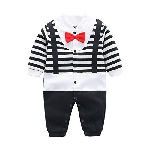 Bambino Pagliaccetto in Cotone Ragazze Ragazzi Pigiama Tutina Fumetto Outfits, 6-9 Mesi