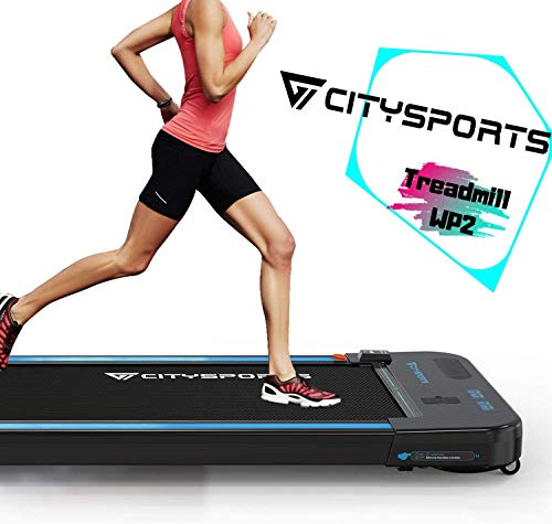 CITYSPORTS Treadmill 440W Motor, Electric Walking Machine Bluetooth Built-in Speakers, Adjustable Speed, LCD Screen & Calorie Counter, Ultra Thin and Silent, Intended for Home/Office