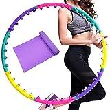 Wuudi Hula Hoop Reifen für Fitnessübungen Magnetische Massage Abnehmen Hula Hoop 8 Abschnitte abnehmbar mit...