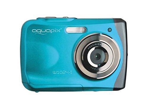 """EasyPix W1024 Splash Digitalkamera, wasserdicht 3m, CMOS 10MP, 2,4\""""LCD, blau"""