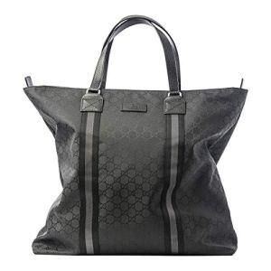 Gucci Italy Signature Tote Canvas Bag Nylon Handbag Lightweight Authentic New 14