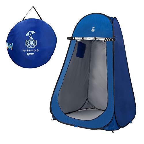 Aktive 62162 Tente de Douche ou vestiaire pour Camping sans Sol, Bleu, 120...