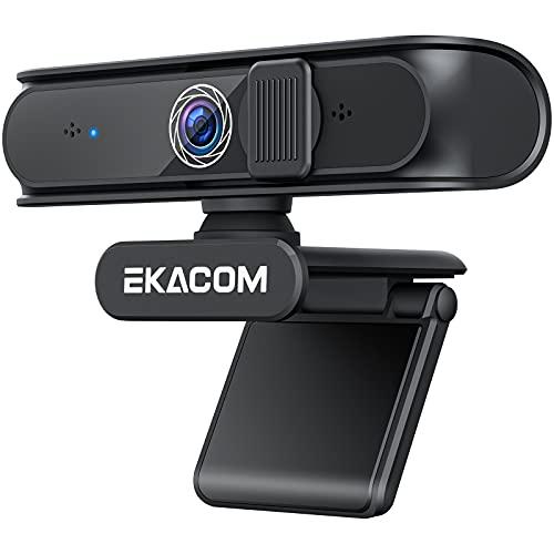 EKACOM Webcam 1080P Full HD con Microfono,Cámara Web con...