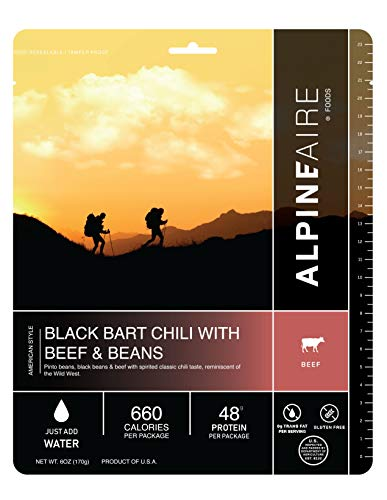 Alpine Aire 60407C Black Bart Chili with Beef and Beans