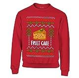 S4E Fruit Cake Ugly Christmas Crewneck Sweatshirt X-Large Red