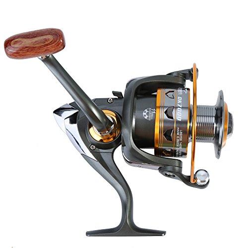 Mulinello da Pesca Spinning, 5.2:1 Bobina di Pesca in Metallo Anticorrosione per Acqua Dolce / Salata (7000)