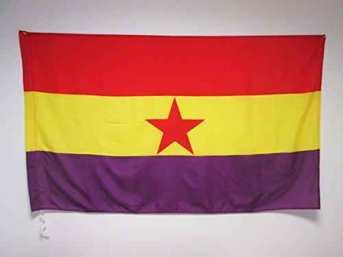 AZ FLAG Bandera ESPAÑA Republicana Estrella ROJA 150x90cm p