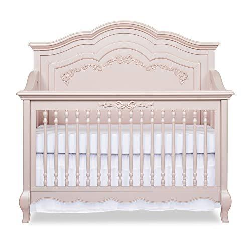 Product Image 1: Evolur Aurora 5-in-1 Convertible Crib, Blush Pink Pearl