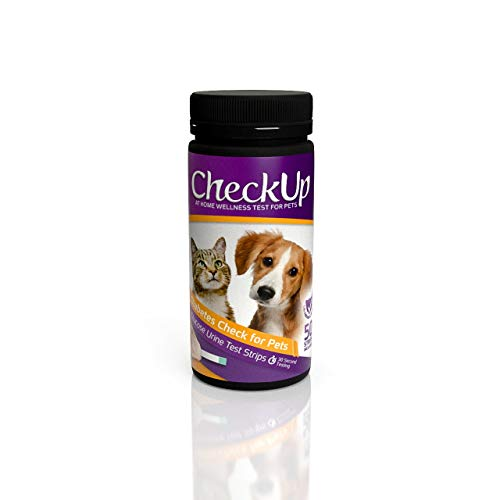 KIT4CAT CheckUp Glucose Urine Testing Strips for Cats and Dogs - Detection of Diabetes x 50