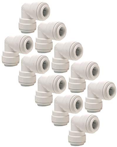 AquaHouse - Connettore a gomito per tubo dell'acqua da 6,35 mm, per frigoriferi e congelatori e...