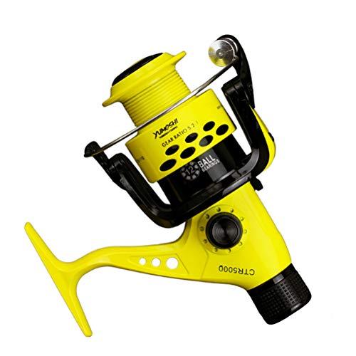 12BB CTR 2000-7000 - Mulinello da pesca 5,5:1, con braccio pieghevole, leggero, con frizione posteriore, Mulinello da pesca in alluminio, Yellow, CTR7000