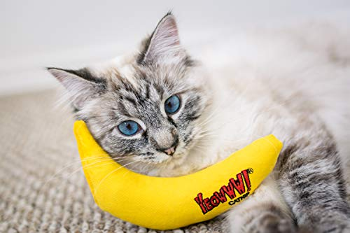 Yeowww! Catnip Toy, Yellow Banana