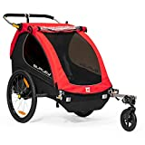 Burley Honey Bee, 2 Seat Kids Bike Trailer & Stroller, Red