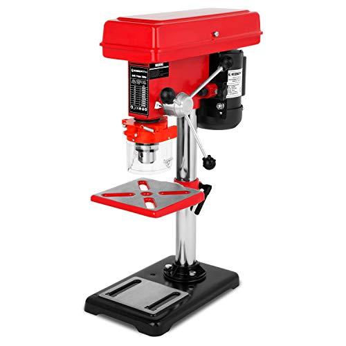 EBERTH 550 W Tischbohrmaschine (60mm Spindelhub, Bohrfutter Ø 3-16 mm, 5 Geschwindigkeitsstufen, neigbarer und schwenkbarer Bohrtisch)