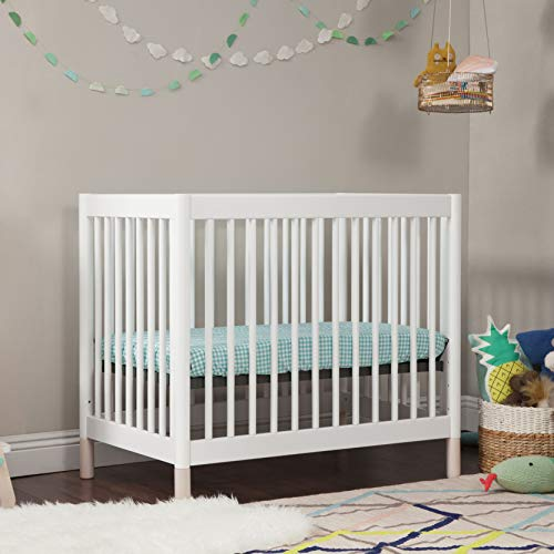Product Image 3: Babyletto Gelato 4-in-1 Convertible Mini Crib in White / Washed Natural, Greenguard Gold Certified