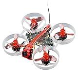 HAPPYMODEL Moblite6 1S 65mm Drone el más Ligero 18,5g + Maletín de Transporte VTX Power AIO 5IN1 Controlador de Vuelo 1S F4 más Ligero (Compatible with Flysky Receiver)