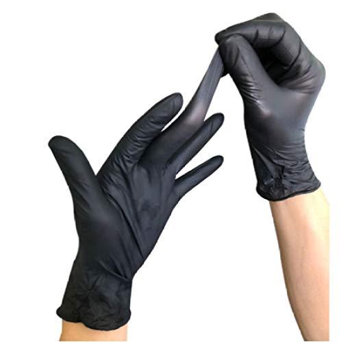 Guanti monouso 100 pezzi guanti monouso neri lavastoviglie in lattice/cucina/lavoro/gomma/guanti da...