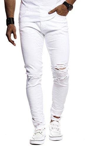 Leif Nelson Herren Hose Jeans Stretch Jeanshose Chino Cargo Hose...