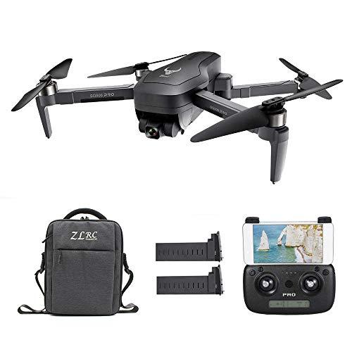 Goolsky SG906 PRO GPS RC Drone con Fotocamera 4K 5G WiFi 2 Assi Gimbal 25mins Tempo di Volo Brushless Quadcopter Seguimi MV Foto Gesto con Borsa Portatile 2 Batteria