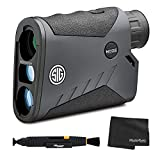 Sig Sauer KILO1000BDX 5X20mm Monocular Laser Rangefinder, High Transmittance LCD, Class 1M - Graphite + Lens Cleaning Kit and Cloth