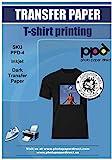 PPD Inkjet - A4 x 10 Hojas de Papel de Transferencia Térmica Premium para Camisetas y Tejidos...