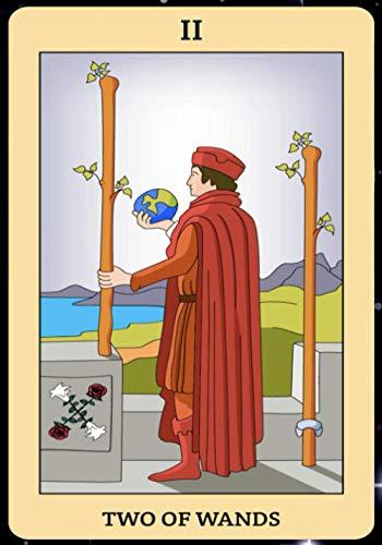 Two of Wands: Tarot Card Journal, Divination Journal, Magic...