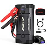 AVAPOW Car Battery Jump Starter Portable,3000A Peak 23800mAh,12V Jump Boxes for Vehicles(Up to 8L Gas/8L Diesel Engine),Auto Battery Booster Jumper Pack with USB QC3.0/LED Light