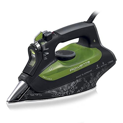 Rowenta Eco Intelligence DW6030 Ferro da Stiro a Vapore, 2500 W, Plastica, Nero/Verde