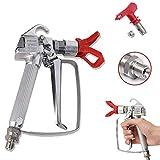 Tutor Auto 3600 PSI High Pressure Airless Paint Spray Gun Ceiling Sprayer with 517 Spray Nozzle Tool