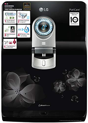 LG WW182EP RO+STS+UV+UF (Mineral Booster) RO Multi-Stage Filtration with 8 LTR. Dual Protection...