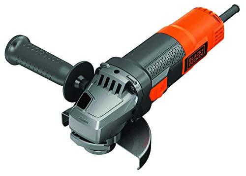 BLACK+DECKER BEG220-QS Meuleuse d'angle filaire - 12 000 trs/min - Changement d'accessoire sans outil 900W, 230V, orange