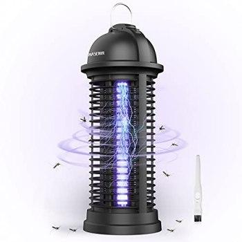 Wasenir Lampe Anti Moustique, 6W UV Tue Mouche Electrique, Répulsifs à Moustiques Non Toxique, Intérieur Destructeur De Moustique Zapper Lampe pour Répulsif Moustique, Mites, Mouches,Insectes