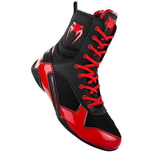 Venum Elite, Zapatillas de Boxeo Unisex Adulto, Multicolor (Negro/Rojo 100), 38.5 EU