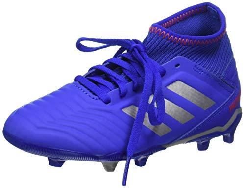 Adidas Predator 19.3 Fg J, Scarpe da Calcio Unisex-Bambini, Multicolore (Azufue/Plamet/Rojact 000), 35 EU
