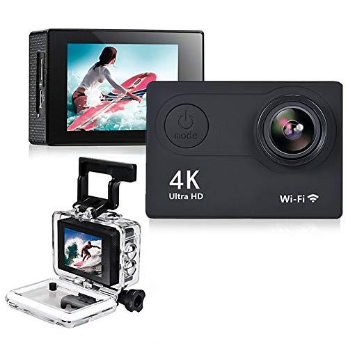 Action Camera Cam HD 4K WiFi 2inch 1080p / 60fps Casco Impermeabile Subacqueo Registrazione Videoregistratore DV Videocamera Cam Sportiva con Telecomando