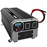 Energizer 3000 watts Power Inverter, Modified sine Wave car Inverter, 12V to 110 Volts, Two AC outlets, Two USB Ports 2.4A ea, hardwire kit, Battery Cables Included – UL Certified Under 458 by METLab