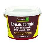 Solabiol SOCOMP5 Engrais Complet - Fruits, Légumes, Fleurs | Seau 5 Kg Utilisable en...