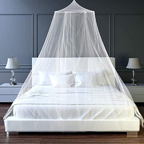 Moskitonetz Doppelbett Einzelbett Reise Mückennetz Bett Groß Moskitonetz Schützt vor Insekten und Mücken, für Camping und Zuhause
