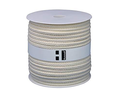 Hummelt® SilverLine-Rope Baumwollseil Baumwollkordel (H) 8mm 40m Natur (beige) auf Rolle