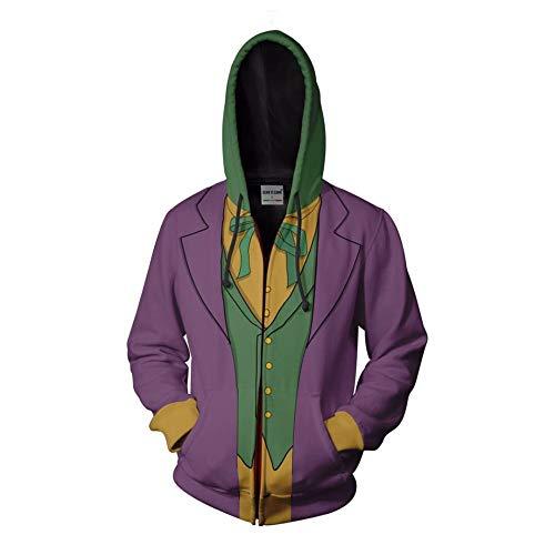 Upretty Felpa con Cappuccio Joker 2019 Pullover Cerniera Unisex Costume da Camicia a Maniche Lunghe...
