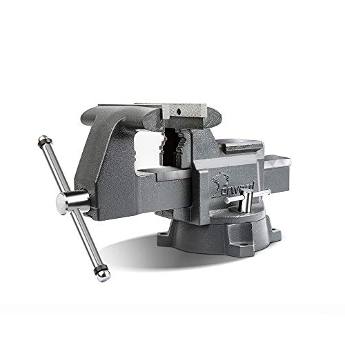 Forward CR60A 6.5-Inch Bench Vise Swivel Base Heavy Duty with Anvil (6 1/2')