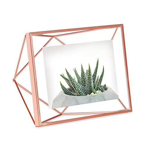 Umbra Prisma Picture Frame, 4 x 6 Photo Display for Desk or Wall,...