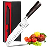 Santoku Knife - imarku 7 inch Kitchen Knife Ultra Sharp Asian Knife...
