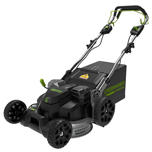 82V 25' Brushless Lawn Mower, 5Ah batterie e Caricabatterie Incluso, Altezza: 20-80mm
