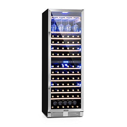 Klarstein Vinovilla Grande Duo - Frigorifero per vino, 425 L, 165 bottiglie, 12 ripiani, Touch...